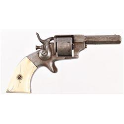 Allen & Wheelock Side Hammer Revolver Ivory Grips