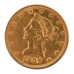 1907 $10 US Gold Coin