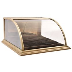 Nickel Framed Counter Top Display Case