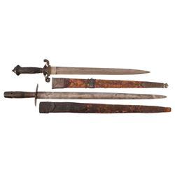 Two Antique Jaeger Knife / German Short Swords