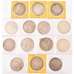 14 Morgan Silver Dollars