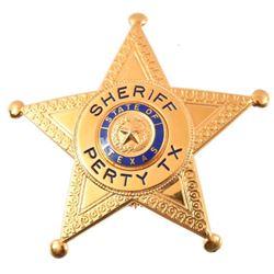 Sheriff's Badge Perty Texas