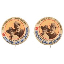 2 Winchester The Wonderful Topperweins Pin Backs