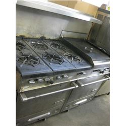 GARLAND 6 BURNER / FLAT TOP OVEN COMBO