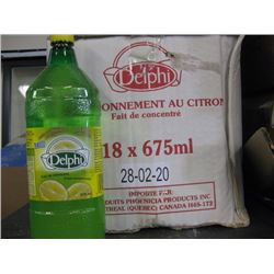 DELPHI - LEMON SEASONING FROM CONCENTRATE 18x675ML BOTTLES