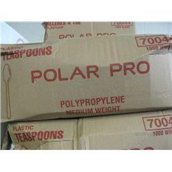 POLAR PRO - PLASRIC TEASPOONS 1000 BOX