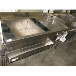 STAINLESS COCKTAIL SINK 4FT