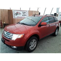H2 --  2008 FORD EDGE SEL , Orange , 115169  KM's