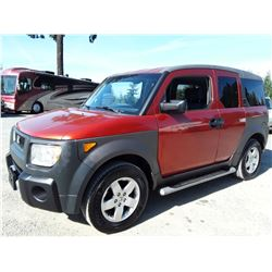 B6A --  2003 HONDA ELEMENT EX , Orange , 175222  MILES