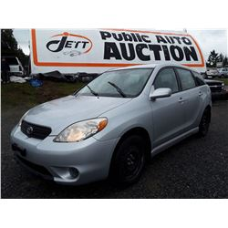 C4 --  2007 TOYOTA MATRIX XR , Grey , 190,927 KMS  KM's
