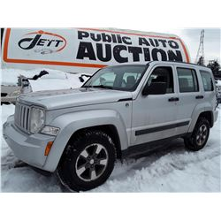 E5 --  2008 JEEP LIBERTY SPORT , Grey , 186842  KM's