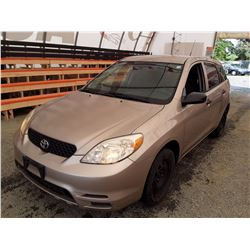 F1 --  2003 TOYOTA MATRIX , Brown , 210532  Miles