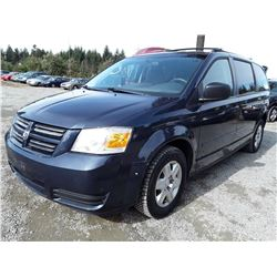 F2 --  2009 DODGE GRAND CARAVAN SE , Blue , 201668  KM's