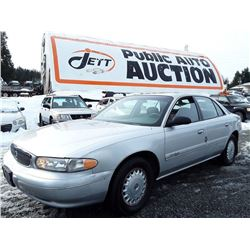 A4 -- 2002 BUICK CENTURY, Silver, Unknown Km's  - No Reserve