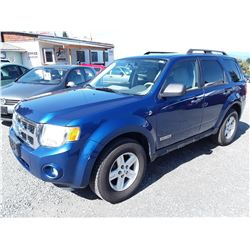B1 --  2008 FORD ESCAPE HYBRID , Blue , 177188  KM's