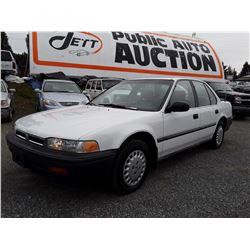 A1 --  1993 HONDA ACCORD DX , White , 278121  KM's