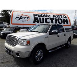 D6A --  2008 FORD F150 CREWCAB , White , 124835  KM's