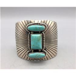 Heavy Duty 3-Stone Turquoise Bracelet