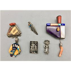 Group of Pendants and Pins