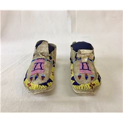Circa 1900 Crow Beaded Kids Moccasins