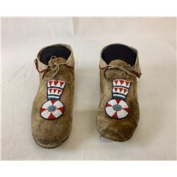 Circa 1900 Crow Beaded Moccasins