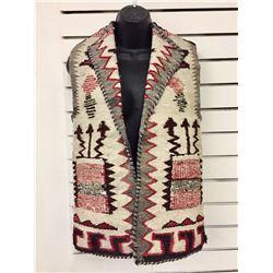 Old Navajo Textile Vest