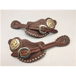 Fancy Spur Straps With Handmade Conchos
