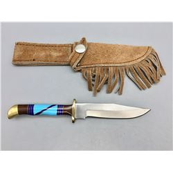 Fixed Blade Knife with Inlay Handle