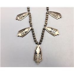 Hopi Overlay Necklace - Lawrence Saufkie