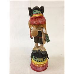 Hopi Maiden Wood Carving by Marvin Jim