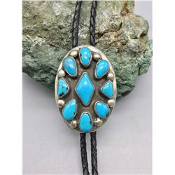 Vintage Turquoise and Sterling Silver Bolo
