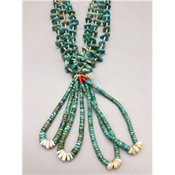 Turquoise Necklace with Joclas