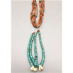 Coral Necklace with Joclas