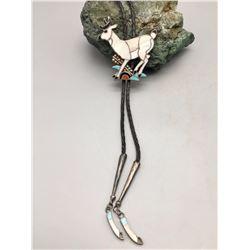 Deer Theme, Zuni Inlay Bolo