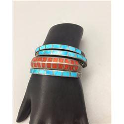 Group of Vintage Inlay Bracelets