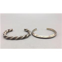 Pair of Vintage Sterling Silver Bracelets