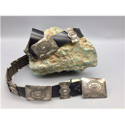 Concho Belt with Pawn Tag