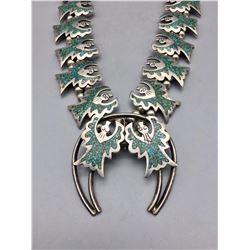 Vintage Squash Blossom Style Necklace