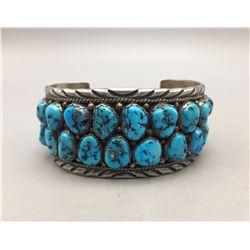 Multi-Stone Turquoise Cluster Bracelet