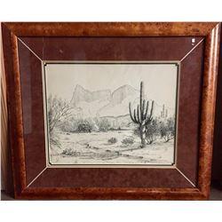 Original Western Art - Nicely Framed!