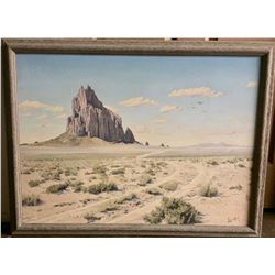 Hand Re-Touched Photo of Shiprock
