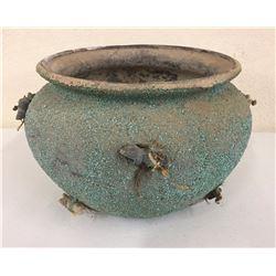 Large Crushed Turquoise Fetish Pot