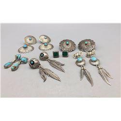 Group of 6 Pair of Earrings