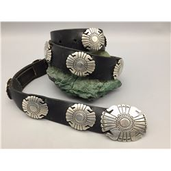 Sterling Silver Concho Belt - Mike Begay