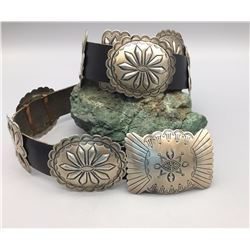 Sterling Silver Concho Belt - Floyd Arviso