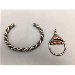 Vintage Bracelet and Pendant