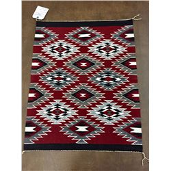 Navajo Textile With Weaver's Info