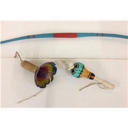 Hopi Bow and Rattles