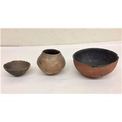Group of 3 Prehistoric Pottery Bowls
