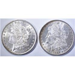 2-CH BU 1884-O MORGAN DOLLARS